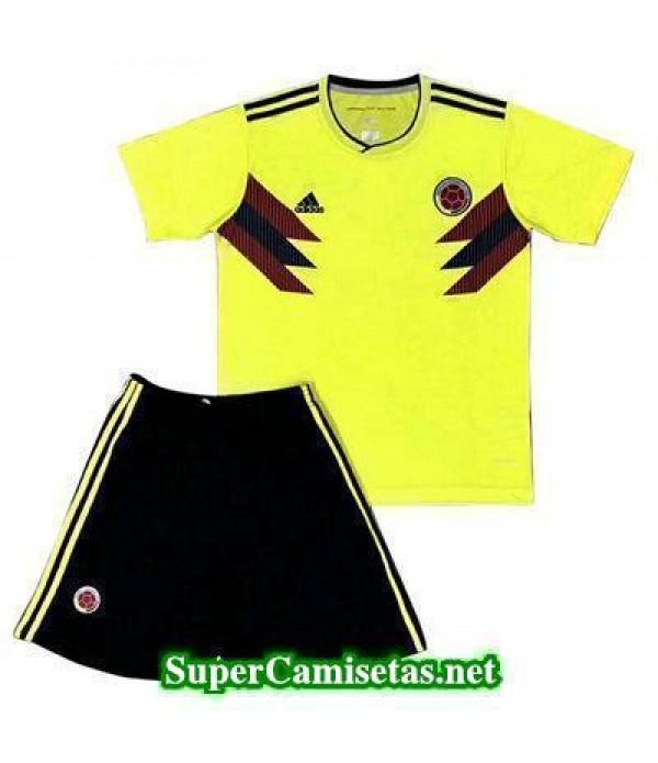 Primera Equipacion Camiseta Colombia Ninos Copa Mu...