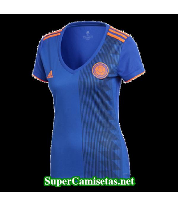 Segunda Equipacion Camiseta Colombia Mujer Copa Mundial 2018