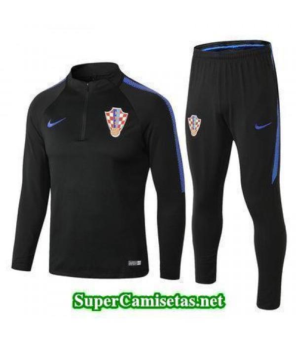Camiseta entrenamiento Croacia ML Negro 2018 2019