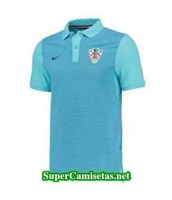Camiseta polo Croacia Azul 2016 2017