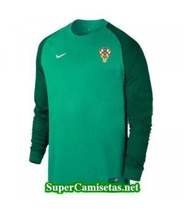 Portero Equipacion Camiseta Croacia ML Verde 2016 2017