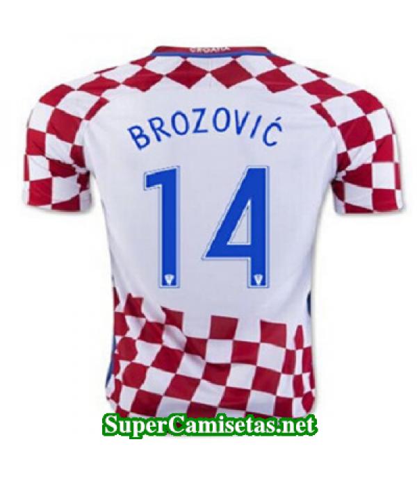 Primera Equipacion Camiseta Croacia BROZOVIC Eurocopa 2016