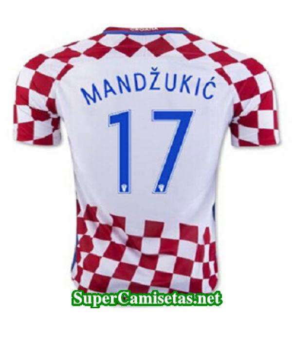 Primera Equipacion Camiseta Croacia MANDZUKIC Eurocopa 2016