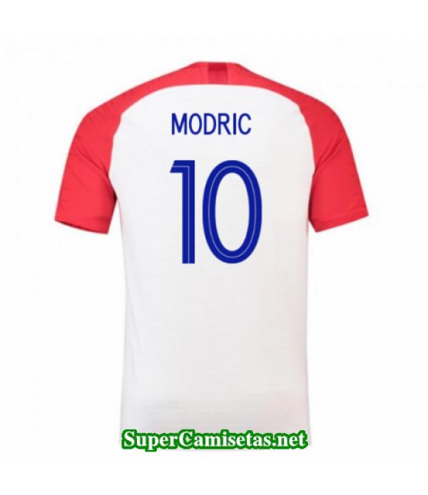 Primera Equipacion Camiseta Croacia Modric Copa Mu...