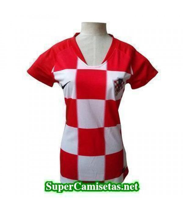 Primera Equipacion Camiseta Croacia Mujer Copa Mun...