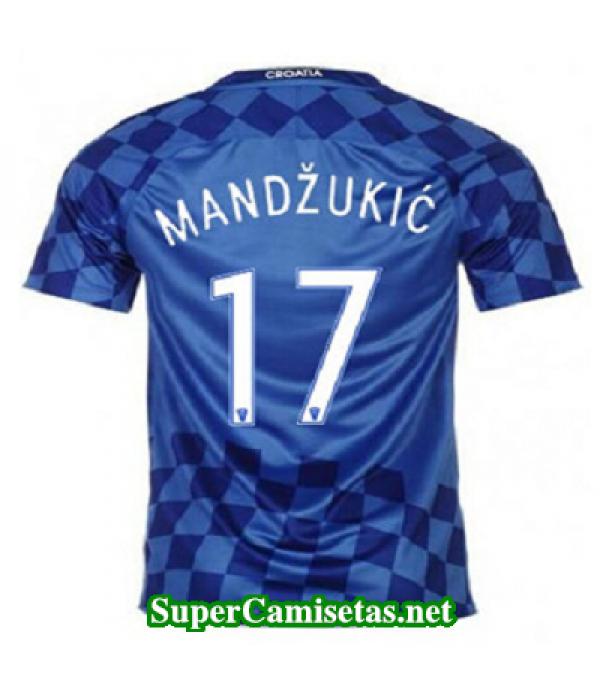 Segunda Equipacion Camiseta Croacia MANDZUKIC Eurocopa 2016