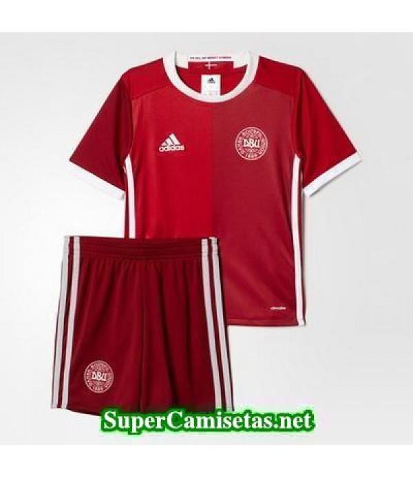 Primera Equipacion Camiseta Dinamarca Ninos Eurocopa 2016