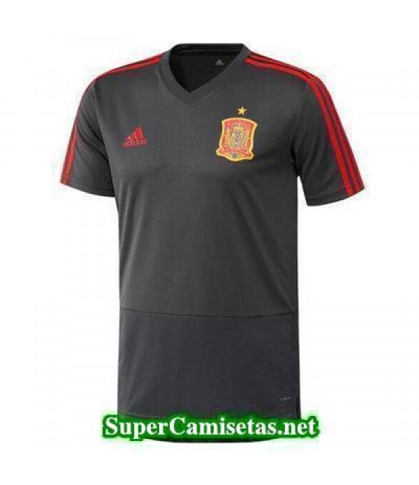 camiseta entrenamiento Espana Gris 2017 2018