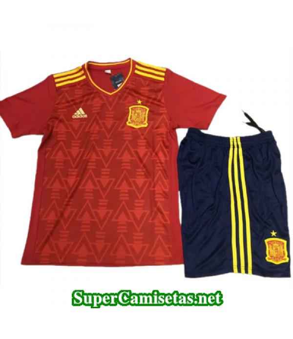 camiseta entrenamiento Espana Rojo 2017 2018