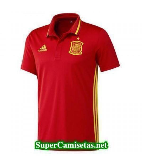 Camiseta polo Espana rojo Eurocopa 2016