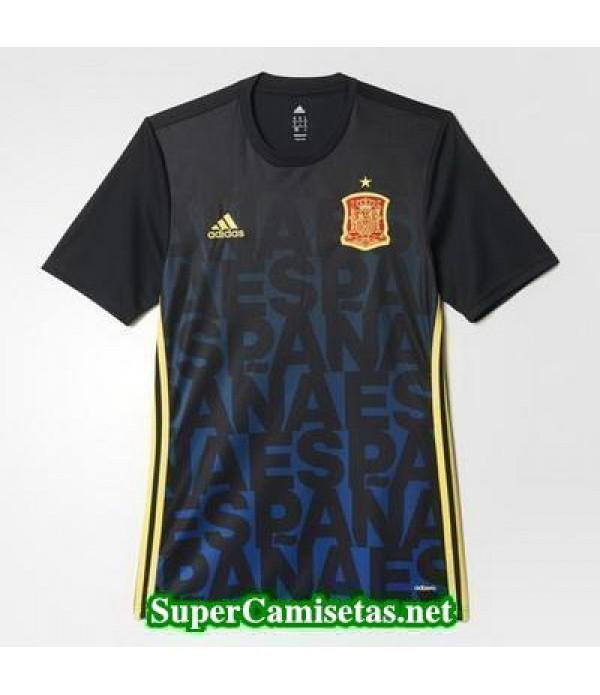 camiseta Pre-match Espana negro 2016 2017