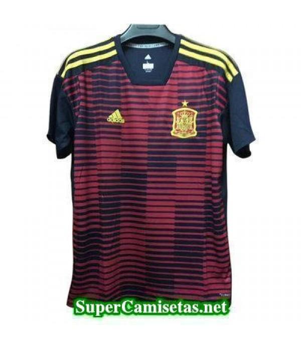 camiseta pre-partido Espana Rojo Copa Mundial 2018