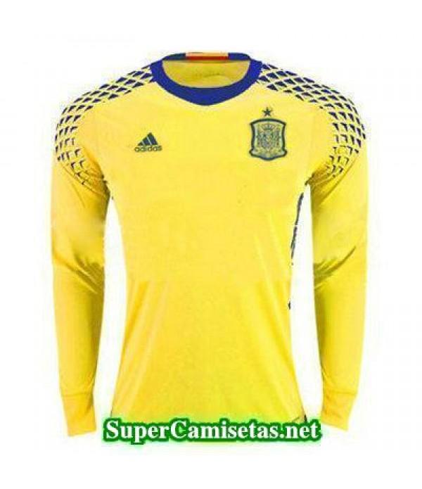 Portero Equipacion Camiseta Espana ML Amarillo 201...