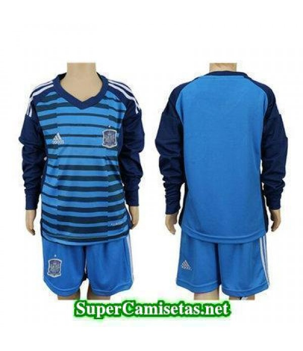 Portero Equipacion Camiseta Espana ML Ninos Copa Mundial 2018