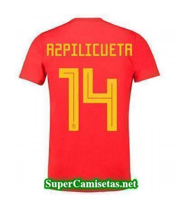 Primera Equipacion Camiseta Espana Azpilicueta Cop...