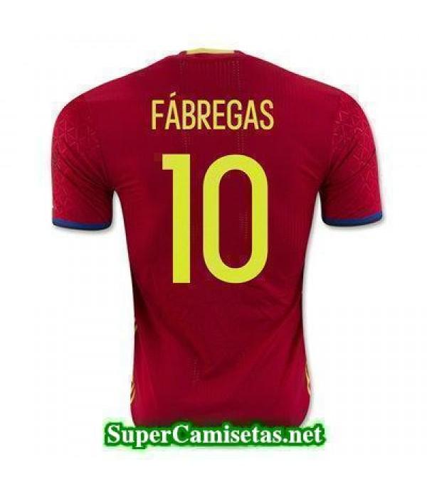 Primera Equipacion Camiseta Espana FABREGAS Euroco...