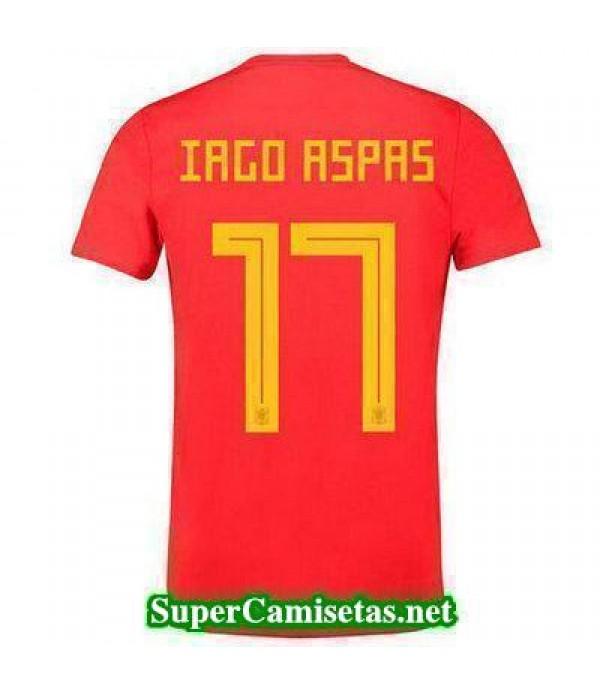 Primera Equipacion Camiseta Espana Iago Aspas Copa Mundial 2018