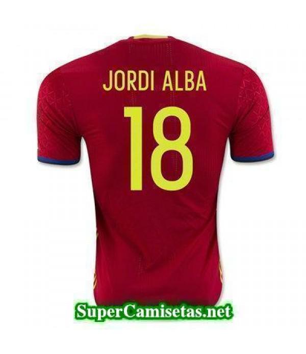 Primera Equipacion Camiseta Espana JORDI ALBA Euro...
