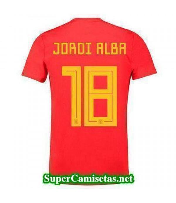 Primera Equipacion Camiseta Espana Jordi Alba Mundial 2018