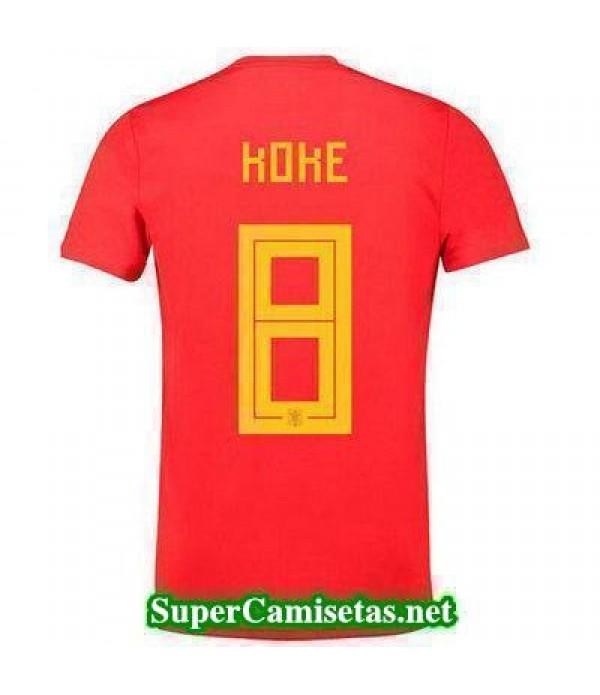 Primera Equipacion Camiseta Espana Koke Mundial 2018