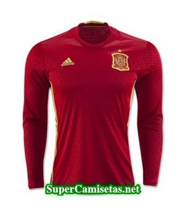Primera Equipacion Camiseta Espana Manga Larga Eur...