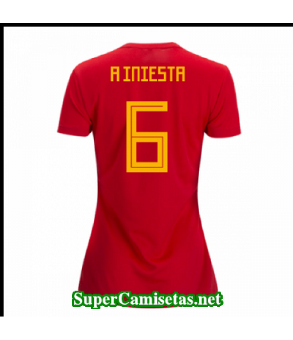 Primera Equipacion Camiseta Espana Mujer A Iniesta Copa Mundial 2018