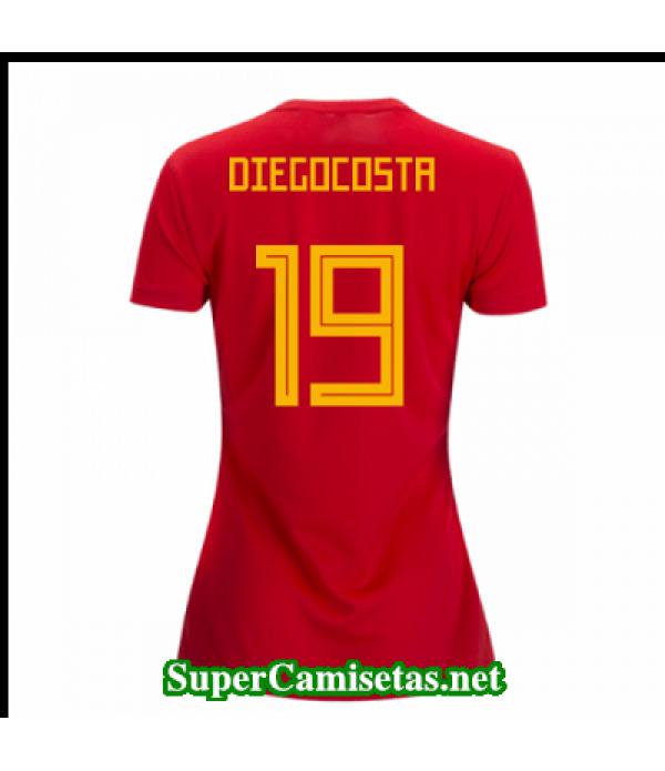 Primera Equipacion Camiseta Espana Mujer Diego costa Copa Mundial 2018