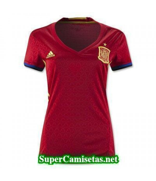 Primera Equipacion Camiseta Espana Mujer Eurocopa ...
