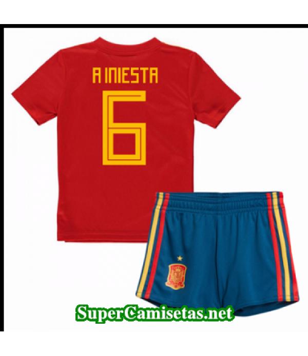 Primera Equipacion Camiseta Espana Ninos A Iniesta...