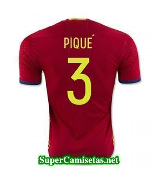 Primera Equipacion Camiseta Espana PIQU Eurocopa 2...