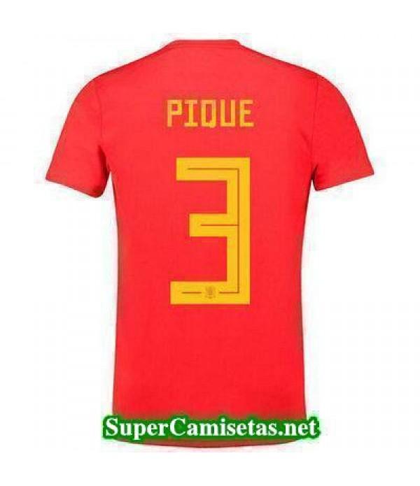 Primera Equipacion Camiseta Espana Pique Mundial 2...