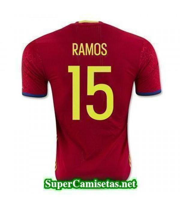 Primera Equipacion Camiseta Espana RAMOS Eurocopa ...