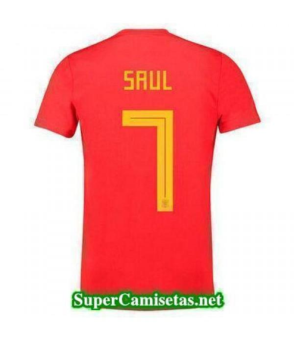 Primera Equipacion Camiseta Espana Saul Mundial 2018