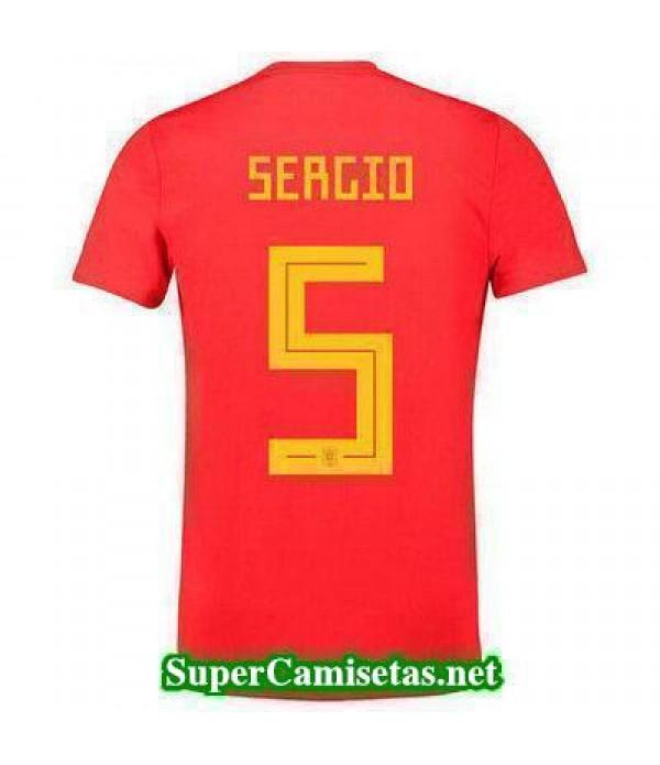 Primera Equipacion Camiseta Espana Sergio Mundial ...