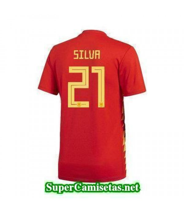 Primera Equipacion Camiseta Espana Silva Mundial 2...
