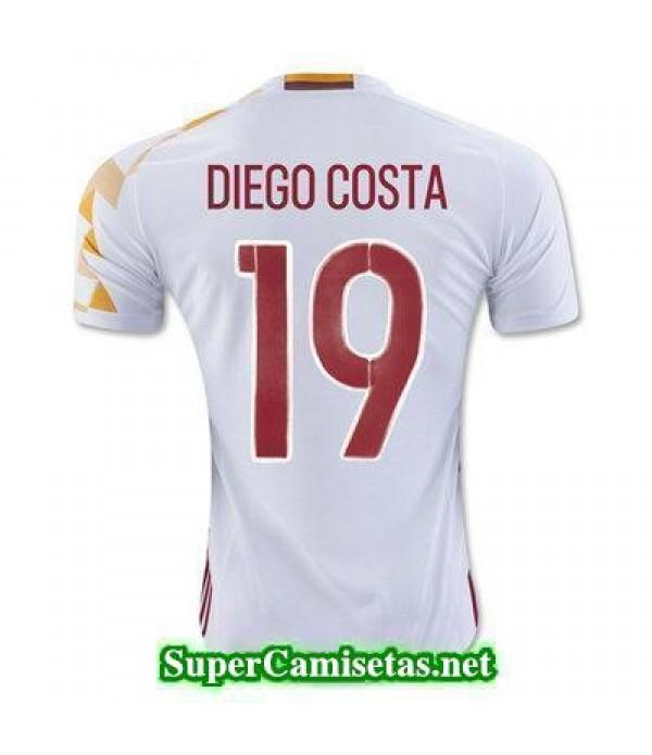 Segunda Equipacion Camiseta Espana DIEGO COSTA Eur...