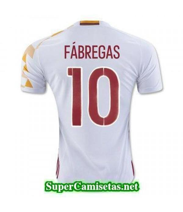 Segunda Equipacion Camiseta Espana FABREGAS Eurocopa 2016