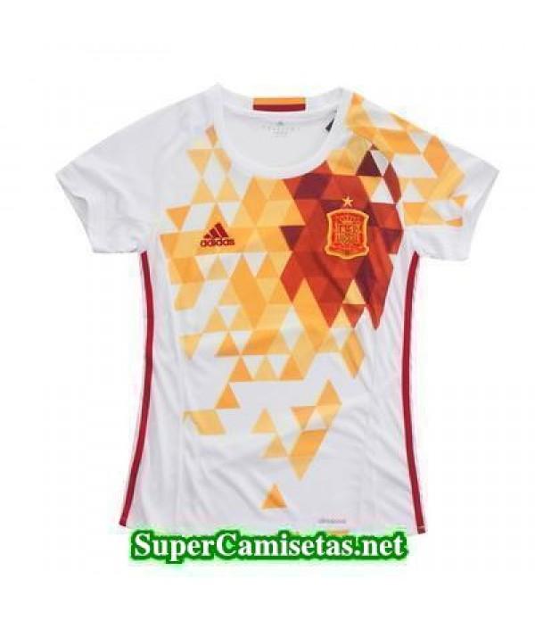 Segunda Equipacion Camiseta Espana Mujer Eurocopa ...