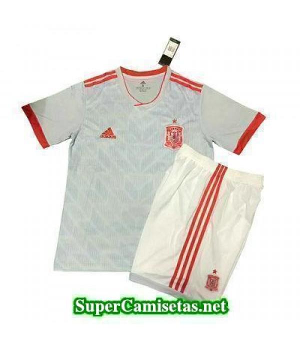 Segunda Equipacion Camiseta Espana Ninos Copa Mund...