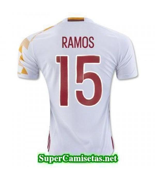 Segunda Equipacion Camiseta Espana RAMOS Eurocopa ...