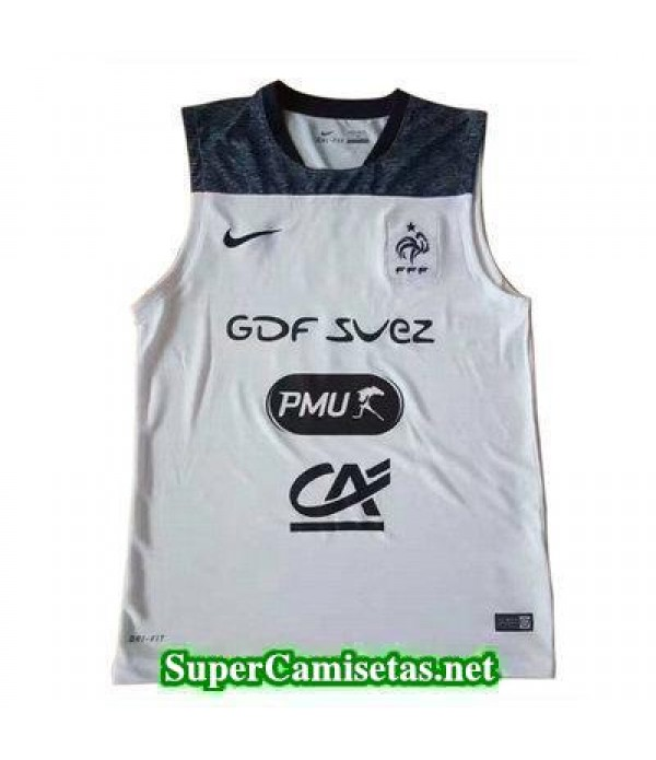 camiseta chaleco Francia blanco 2017 2018