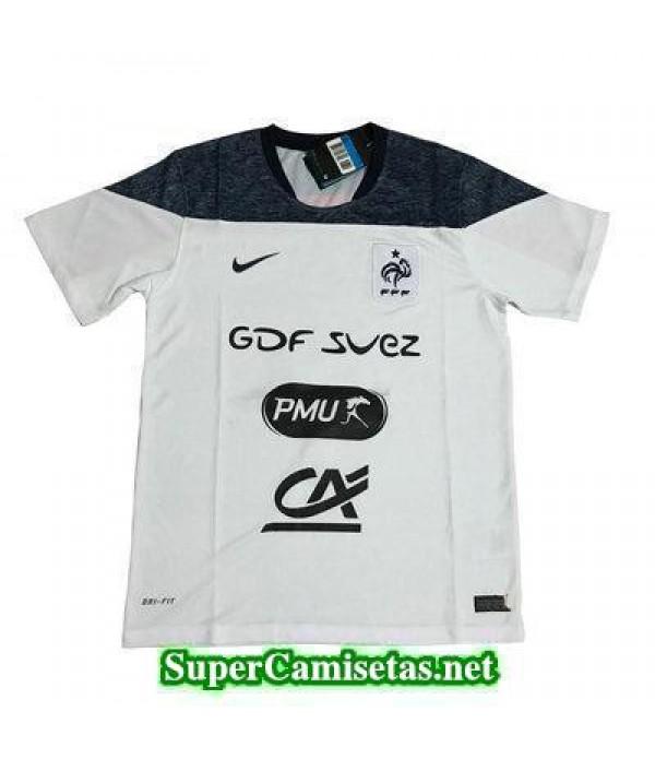 camiseta entrenamiento Francia blanco 2017 2018