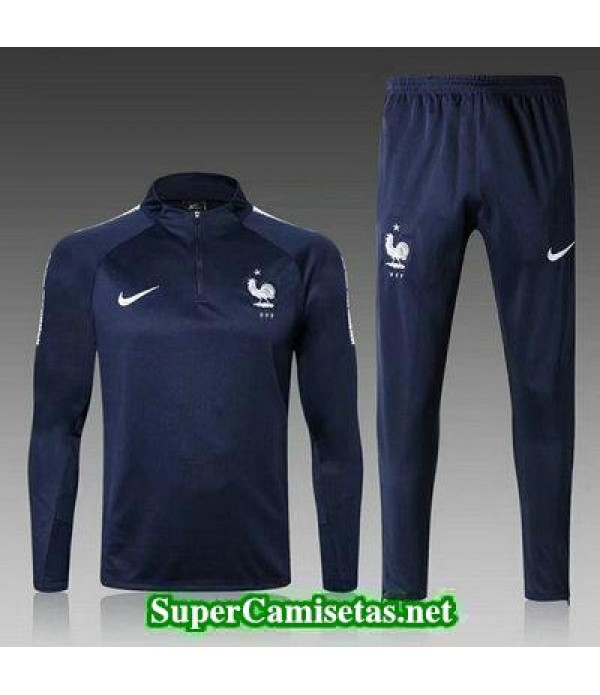 Camiseta entrenamiento Francia ML Azul oscuro 2018 2019