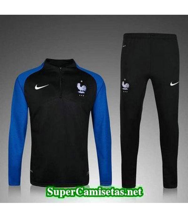 camiseta entrenamiento Francia ML Azul y negro 2016