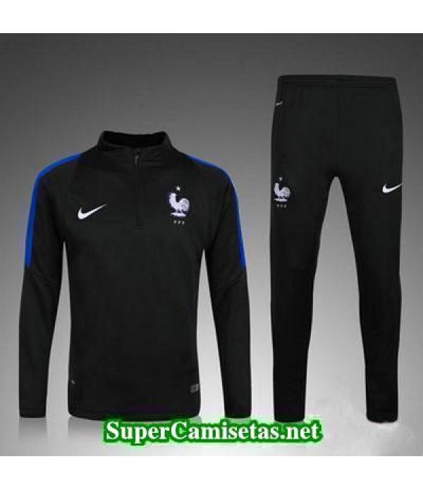 camiseta entrenamiento Francia ML negro 2016