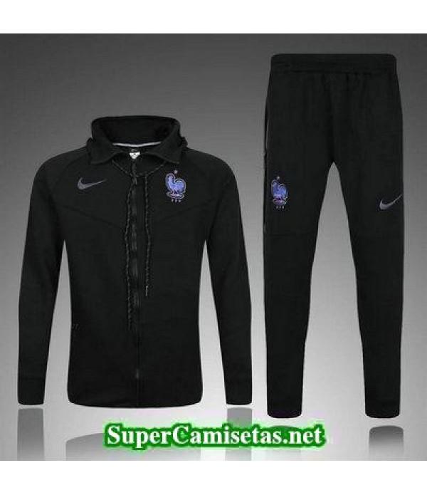camiseta entrenamiento Francia ML negro 2017 2018