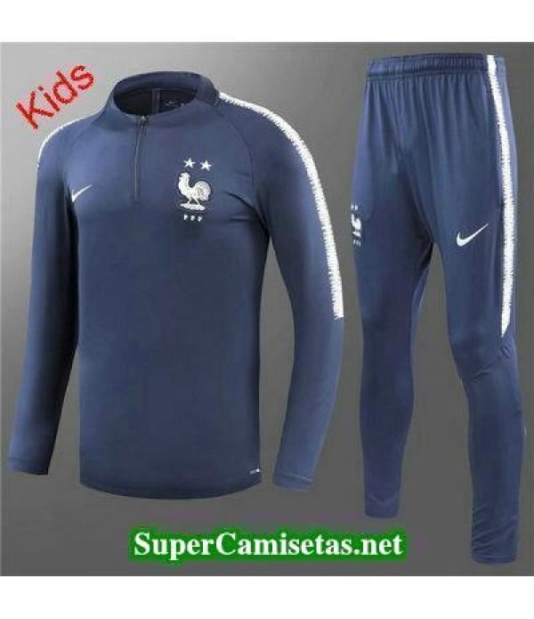 Camiseta entrenamiento Francia Ninos ML Azul oscuro 2018 2019