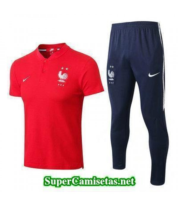 Camiseta polo Francia Rojo 2018 2019