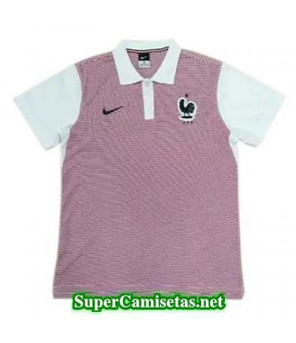 Camiseta polo Francia Rosa 2016 2017