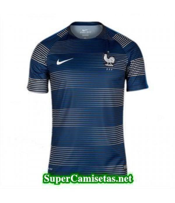 camiseta pre-partido Francia azul 2016 2017